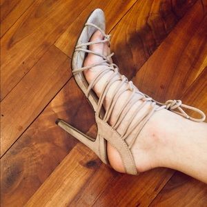 Nude Strappy Forever 21 Heels